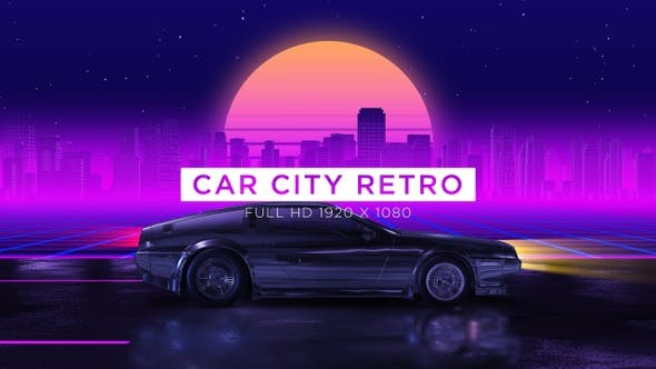 Car City Retro Trip 1 Vj Loops Background