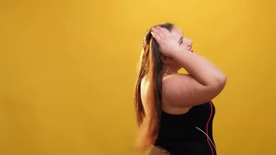 Body Positive Happy Fatty Woman Model Shooting