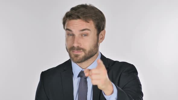 Thumbnail for Portrait of Businessman Pointing at Camera