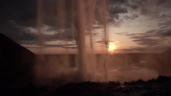 Thumbnail for Seljalandfoss Waterfall in Sunset Time, Iceland