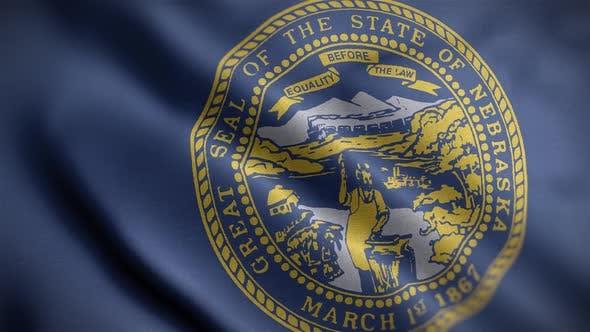 Nebraska State Flag Close Up HD