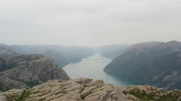 Thumbnail for Scenic Landscape of a Lake In Between Rocky Mountains, Norway