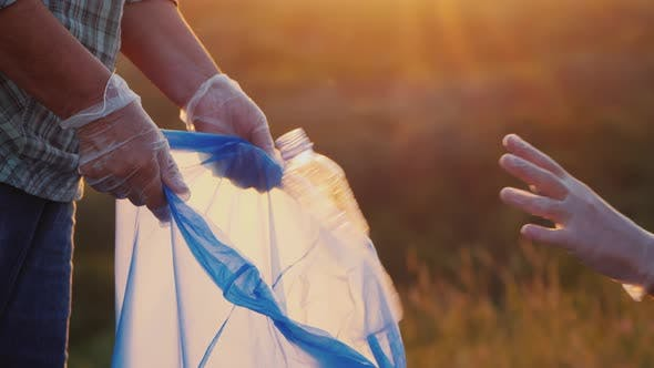 Thumbnail for People Put Plastic Trash in the Bag