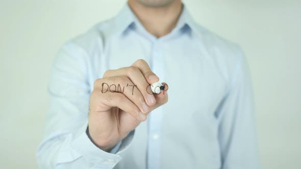 Thumbnail for Don't Copy, Writing On Screen