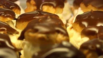 Closeup on Desserts on a Baking Sheet