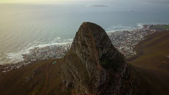 Thumbnail for Aerial view of Lion's Head in Cape Town, South Africa.