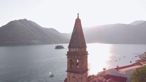 Perast City Aerial View Montenegro