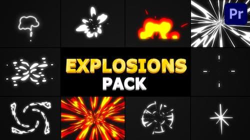 Cartoon Explosions Pack   Premiere Pro MOGRT