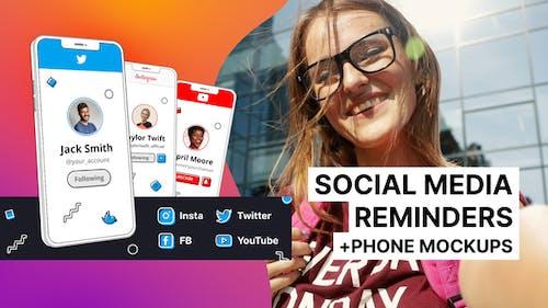 Phone Mockups and Social Media Reminders