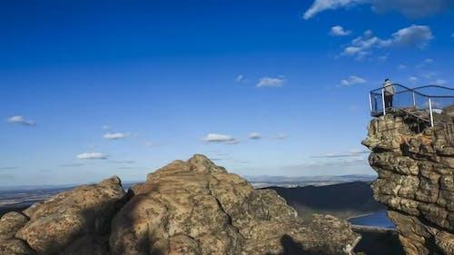 Timelapse of lookout on Pinnacle peak