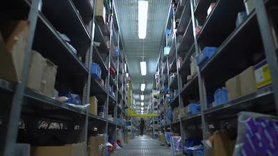 Warehouse With Rows