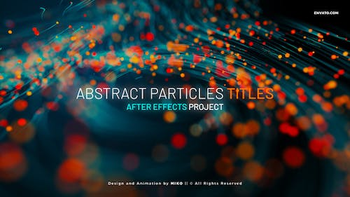 Abstract Particles Titles