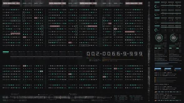 Futuristic User Interface Data Head Up Display Screen Background 01