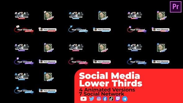 Médias sociaux Troisième inférieur v2