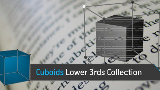 Thumbnail for Cuboids Lower Thirds Collection