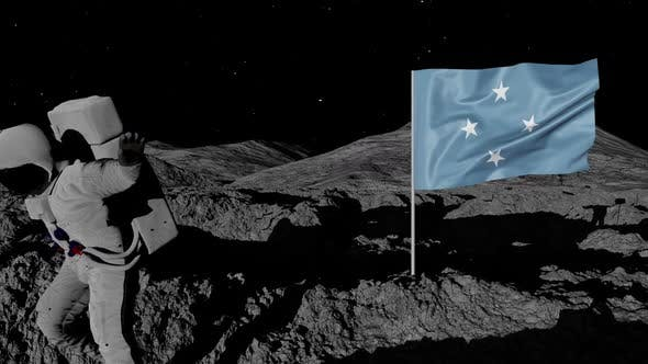 Thumbnail for Astronaut Planting Micronesia Flag on the Moon