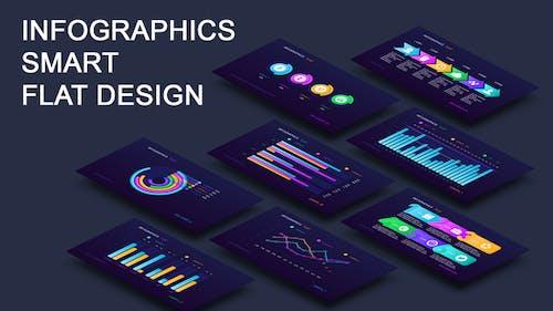 Infographics smart flat design