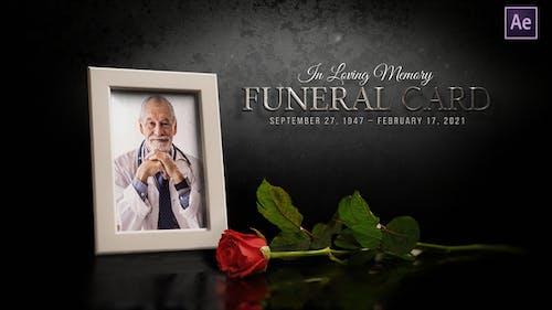 Funeral Flower Card | Memorial