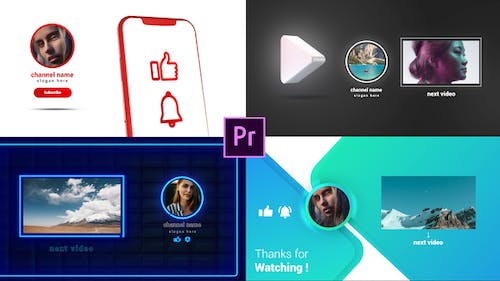 Youtube Endcards Pack
