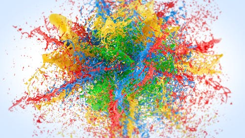 Exploding Paints Logo Reveal