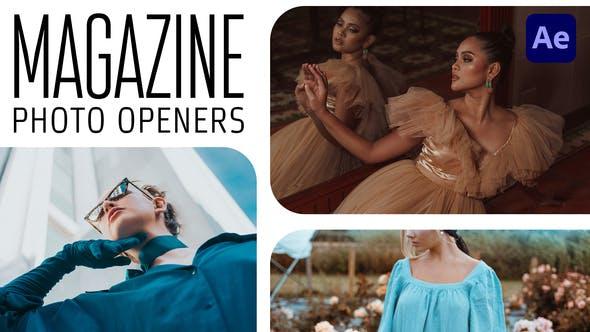 Aperturas de fotos de la Revista - Logo Reveal
