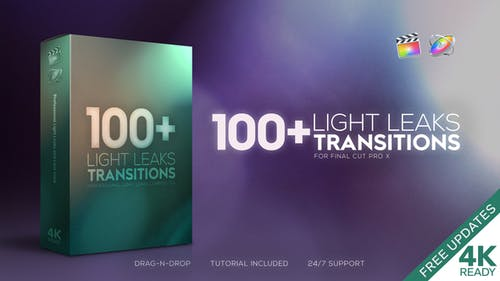 4K Light Leaks Transitions | For FCPX