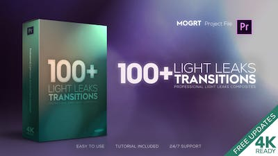 4K Light Leaks Transitions | For Premiere Pro
