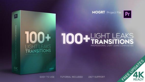 4K Light Leaks Transitions   For Premiere Pro
