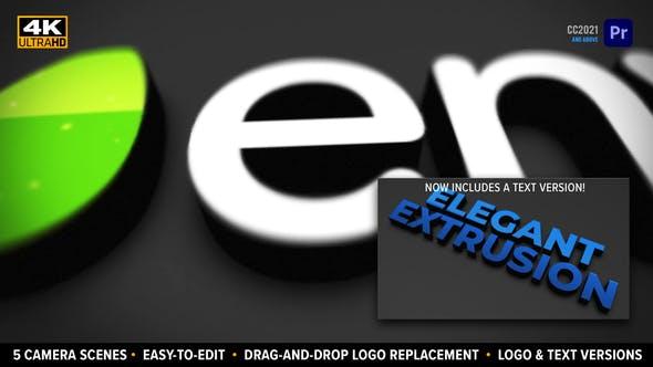 Elegant Extrusion 3D Logo   Drag-and-drop MOGRT for Premiere