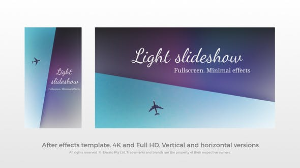 Presentación de diapositivas de luz - Presentación de diapositivas de pantalla completa