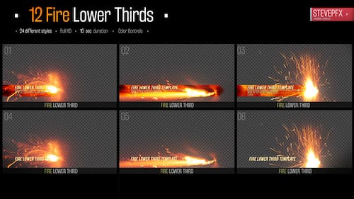 Fire Lower Thirds