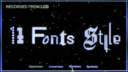 Pixel Screen / Fonts Bundle