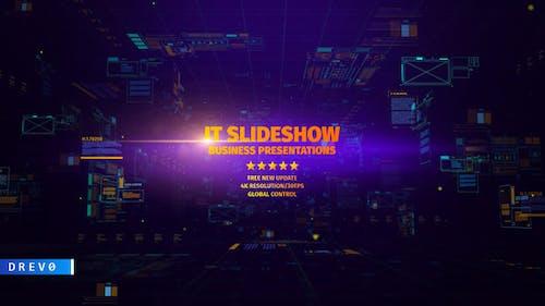 IT Slideshow/ Digital HUD Slide/ Interface Placeholders/ Sci-fi Technology/ Business Presentations