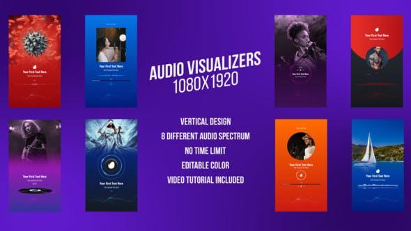 Social Media  Audio Visualizers, Vertical Design