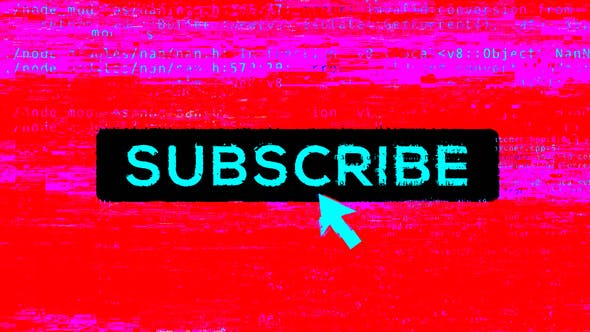 Subscribe Glitch Transition