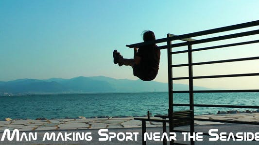 Cover Image for Man Making Sport Near The Seaside