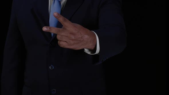 Thumbnail for Business Man Two Fingers