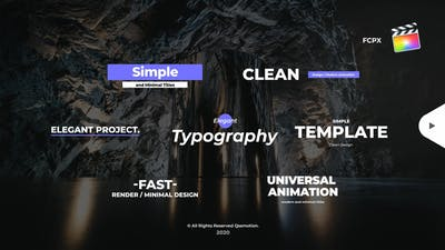 Simple And Minimal Titles Pack For FCPX