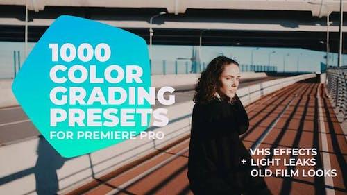 1000 Cinematic Color Presets - Lut Pack for Premiere Pro