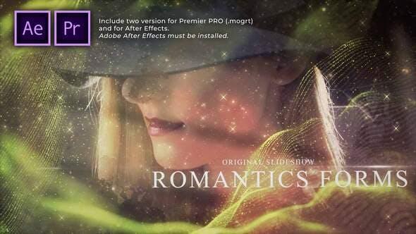 Romantic Forms Particles Slideshow