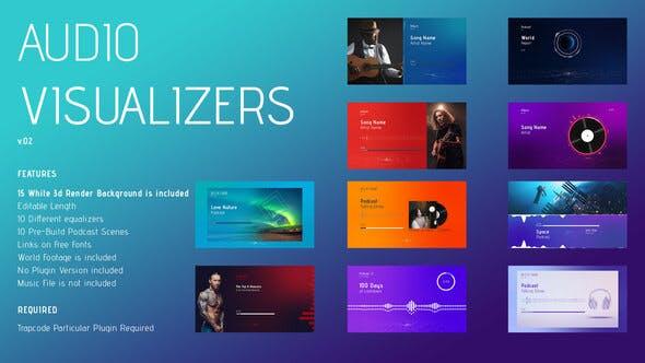 Audio Visualizer, Sound Keys Visualizer, Podcast Visualizer 4K