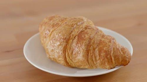 Croissant bread morning breakfast
