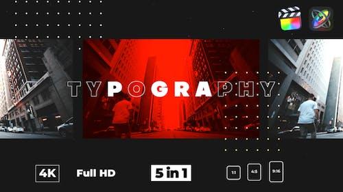 Typography Glitch Opener
