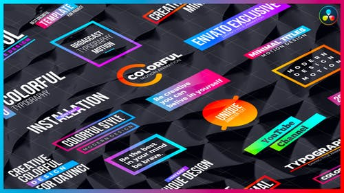Colorful Titles | DaVinci Resolve