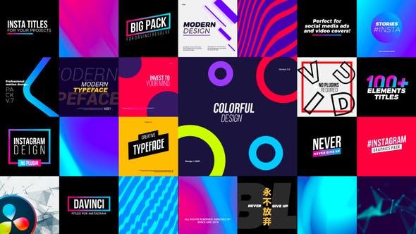 Instagram Elements Pack | DaVinci Resolve