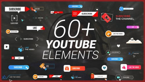 YouTube Buttons Subscribe Pack MOGRT