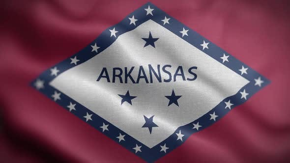 Arkansas State Flag Front HD