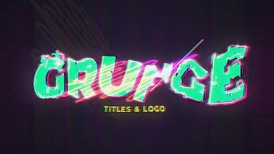 Grunge Glitch Intro & Logo