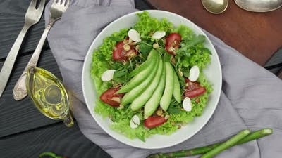 Avocado Salad Lettuce Leaves Tomato