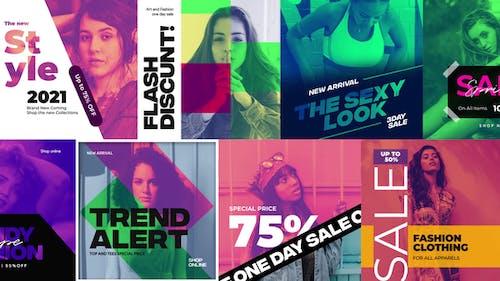 Duotone Instagram Fashion Banners / Fashion Stories
